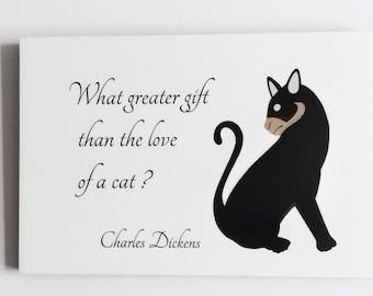 Cat Quote Wall PLaque, Designer Cat Wall Art, Black Cat Art Print, Bespoke Cat Art Print, Cat Wall Decor, Cat Art Print, Cat Quote Art Print