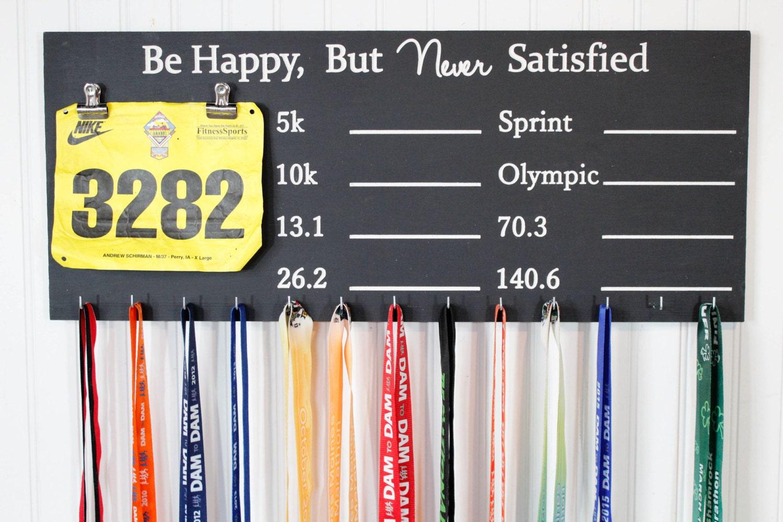 Running Medal and Triathlon Medal Display Chalkboard PR