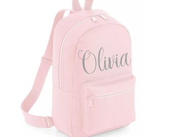 61facecbda6b Personalised Backpack with ANY NAME- Kids Children Teenagers School Student  rucksack - Back To School Bag Backpack
