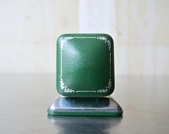 Vintage Velvet Ring Box - Art Deco Ring Box - Velvet Wedding Ring Box - Engagement Ring Box - Velvet Lined Ring Box - Jewelry Box