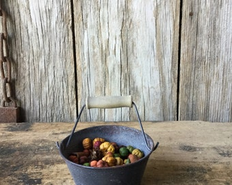 Metal Bucket with Pumpkin Spice Potpourri, Fall Decor, Pumpkin Decor, Pumpkin Spice Potpourri, Cinnamon Potpourri, Halloween Decor