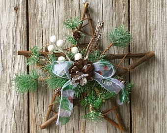 Glitter Pine Christmas Star
