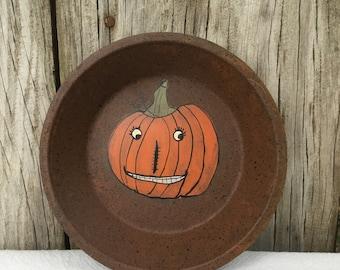 Rusty Tin Trays with Smiling Jack O Lanterns