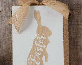 Easter Bunny Block Sign