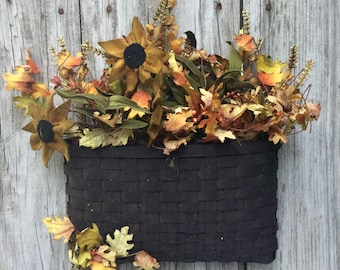 Fall Floral Arrangement in Wall Basket