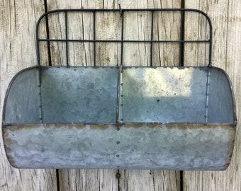 Galvanized Metal Wall Bin