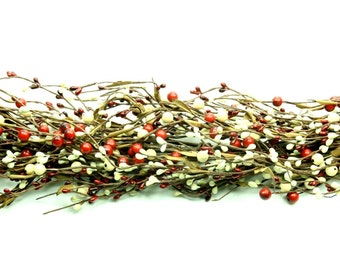 Red and Gold Mixed Berry Garland