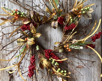 Extra Large Fall Wreath with Berries and Pods