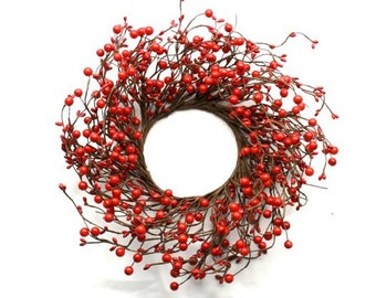 White Pip Berry Wreath