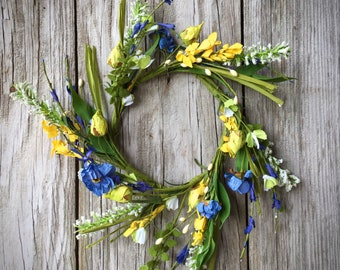 Blue Cornfield Wreath