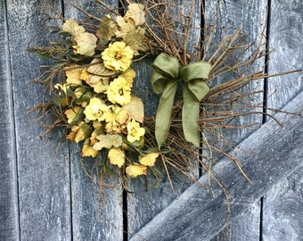 Tuscan Poppy Wreath