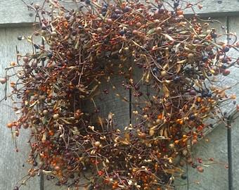 Rustic Fall Pip Berry Wreath