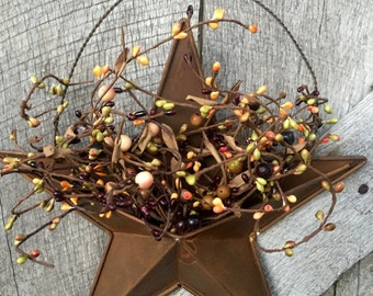 Rustic Country Barn Star with Pip Berries