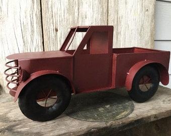 Vintage Look Red Truck