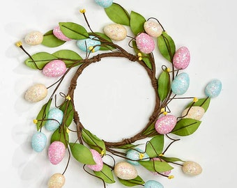 Easter Wreath with Pip Berries and Easter Eggs