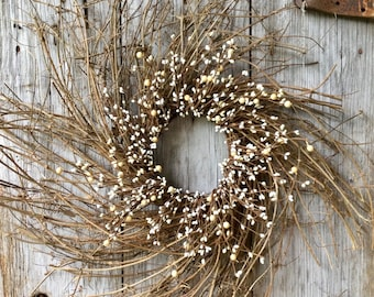 Build Your Own Extra Large Twig Wreath with Berries