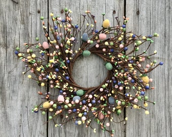 Pip Berry Wreath-Candle Ring-Easter Wreath-Spring Wreath-Pip Berry Centerpiece-Mini Wreath - Primitive Wreath-Summer Wreath - Free Shipping