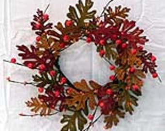 Wood Oak Leaf Garland