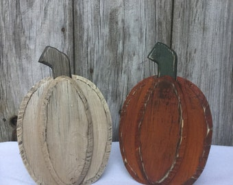 Sitting Wood Pumpkin