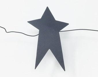 Black Folk Art Star Garland