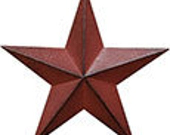 "On Sale 12"" Burgundy Barn Star"
