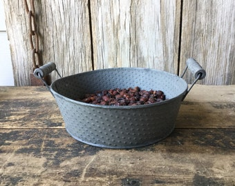 Metal Bucket with Rosehips, Rosehip Potpourri, Pumpkin Spice Potpourri, Unscented Rosehips, Country Decor, Farmhouse Decor
