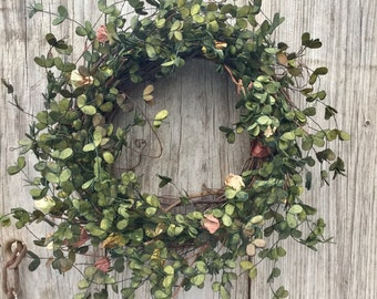 Boxwood and Bud Wreath