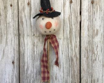 Primitive Snowman Head Pick