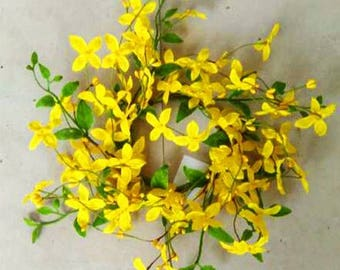 Forsythia Candle Rings in 2 Sizes