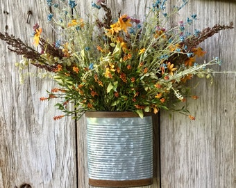 Fall Floral Wall Pocket