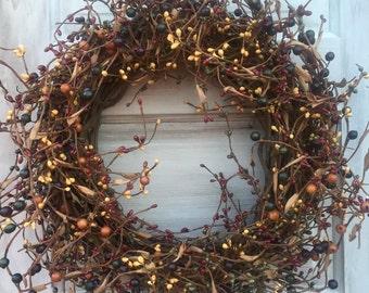 Farmhouse Pip Berry Wreath