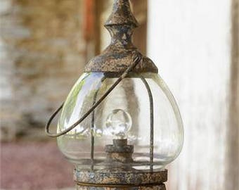 Vintage Carriage Style LED Lantern with Timer Feature