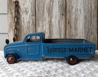 Blue Metal Farmer's Market Truck