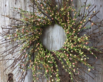 Twig Wreath with Spring Pip Berries
