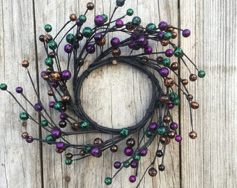 Halloween Wreath-Halloween Decor-Candle Ring-Pip Berry Candle Ring-Halloween Candle Ring-Halloween Centerpiece -Free Shipping