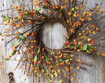 Bittersweet and Twig Wreath