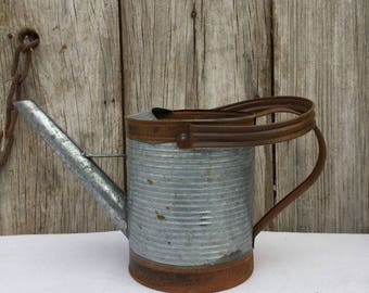 Galvanized Metal and Rusty Tin Watering Can