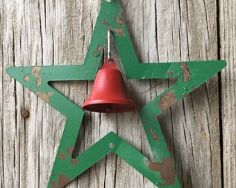 Metal Star with Bell Ornament, Christmas Ornament, Christmas Decor, Holiday Decor, Tree Ornament, Jingle Bells, Christmas Bells