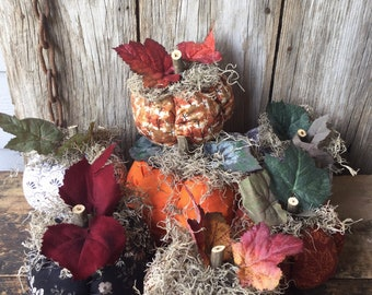 Scented Fabric Pumpkins