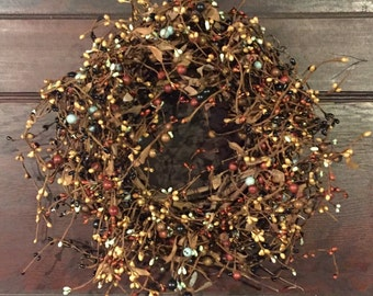 Mixed Berries Fall Wreath