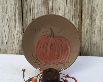 Fall Pumpkin Plate  and Candle Centerpiece
