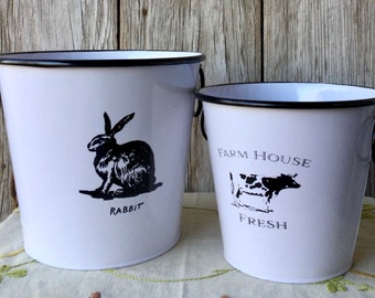 Farm House Fresh Buckets-Set of 2
