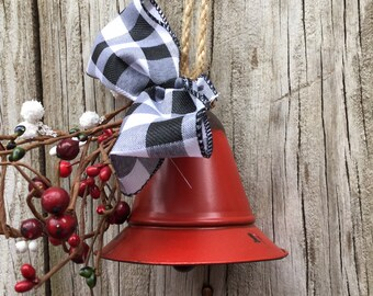 Rustic Red Bell wth Mixed Berries and Bow