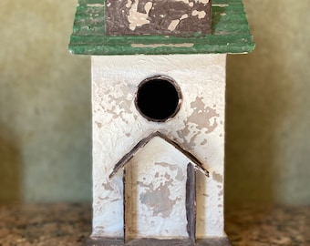 Galvanized Metal Birdhouse Luminary