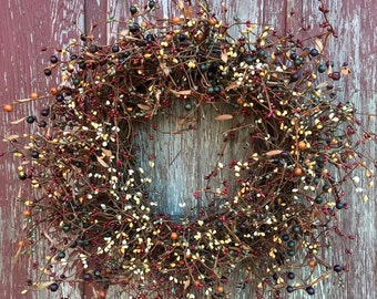 Country Mixed Berry Wreath