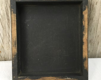 Distressed Black Wood Candle Box