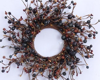 Fall Pip Berry Wreath in Mixed Fall Colors