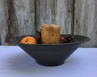 Rustic Metal Bowl with Fall Potpourri