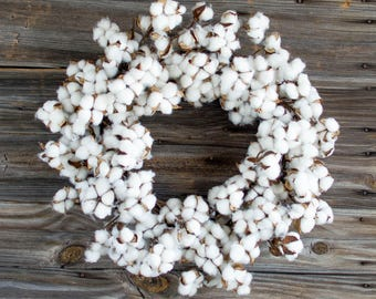 Extra Large Cotton Farmhouse Wreath