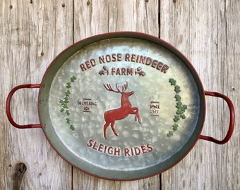 Red Nose Reindeer Tray